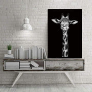 "Black and White Wild Animal Photos on Canvas Giraffe / 8""x12"" Canvas"