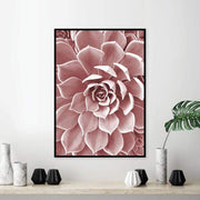 "Blush Color Succulent Flower Nordic Style Canvas Poster 6""x8"" Canvas"