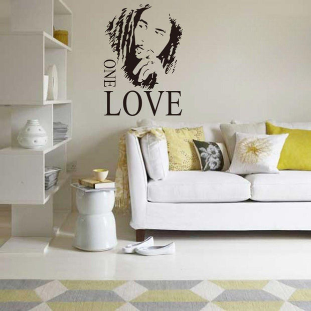 "Bob Marley Silhouette Wall Sticker 17""x24"" Wall Sticker"