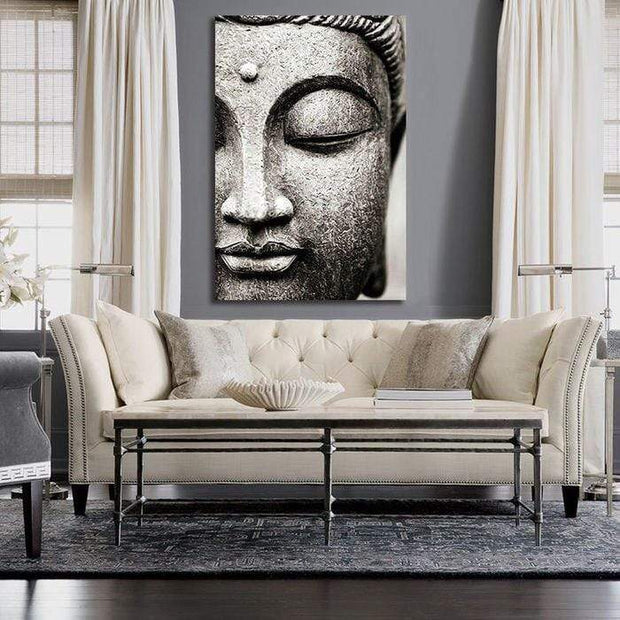 "Buddha Flower Canvas Print Buddha / 12""X18"" / Unframed Canvas"