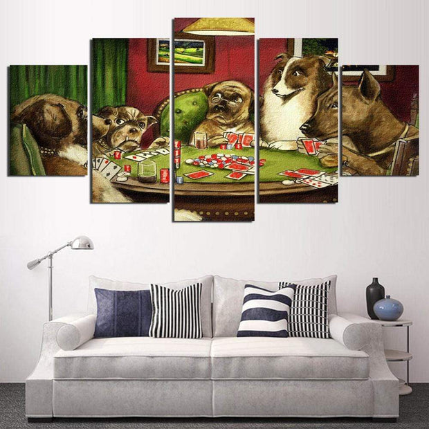 Classic Poker Dogs Canvas Painting canvas