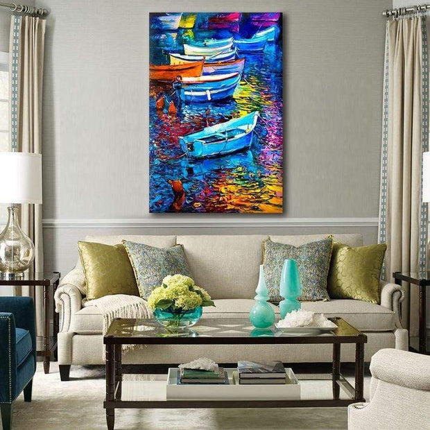 Colorful Boat Canvas Prints Canvas