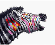 Colorful Zebra DIY Painting By Numbers DIY