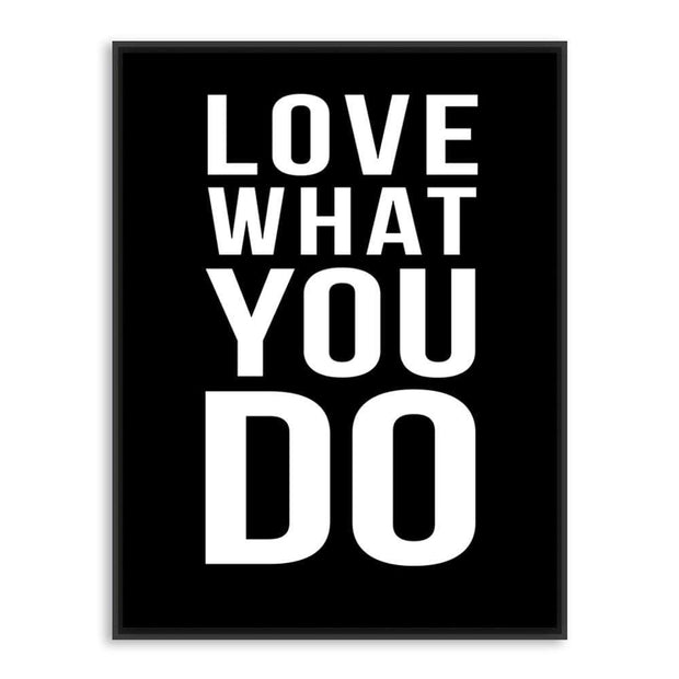 Do What You Love Motivational Quote Canvas Poster Canvas