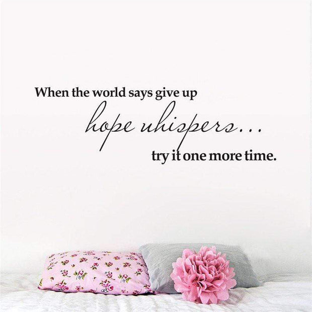 "Don't Give Up Inspirational Quote Wall Decal 16""x7"" Wall Sticker"