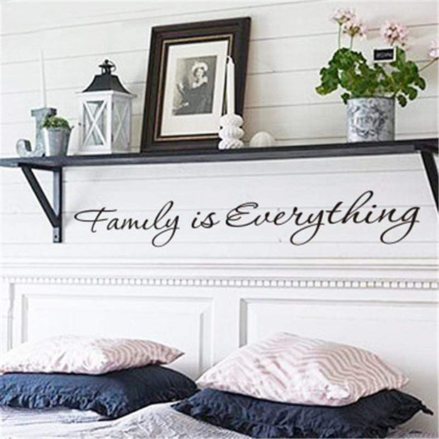"Family Quote Wall Sticker Black / 22""x3"" Wall Sticker"