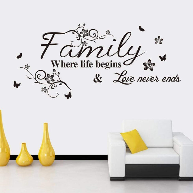 "Family Quote Wall Sticker For Your Home 30""x14"" Wall Sticker"