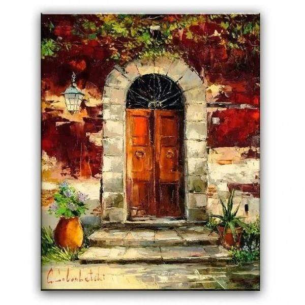 "French Provencal Countryside Oil Paintings 3 / 16""x20"" Oil Painting"