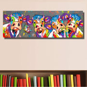 Funny Cows Graffiti Oil Painting Oil Painting
