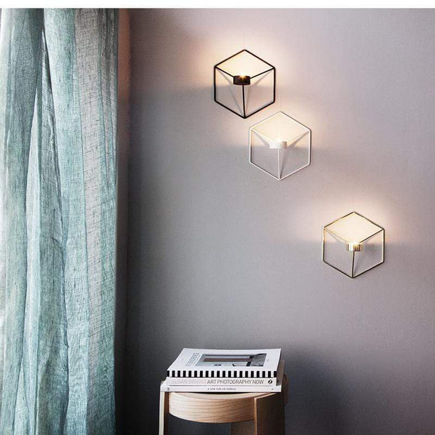 Geometric Candle or Plant Holder For Wall Decor Accessories