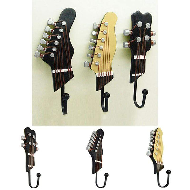 Guitar Head Shaped Wall Hooks Accessories