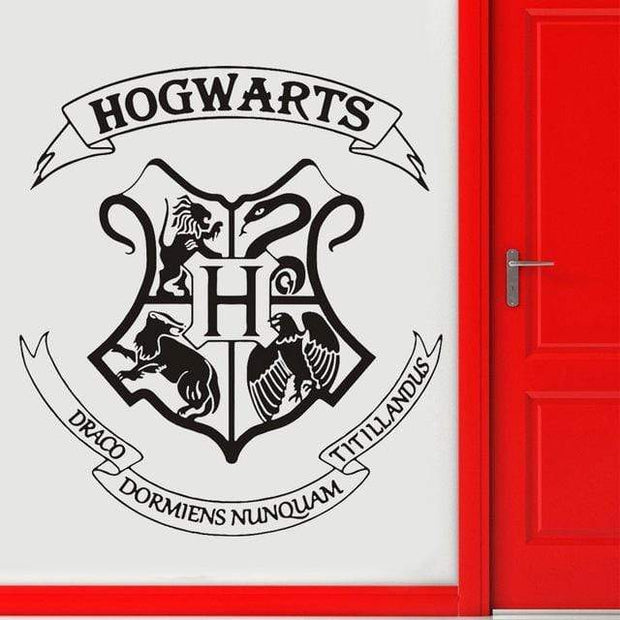"Harry Potter Hogwarts Crest Wall Sticker Black / 16""x18"" Wall Sticker"