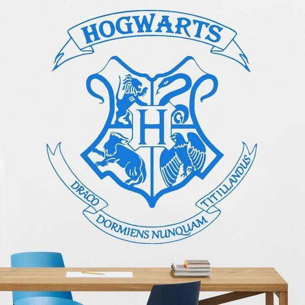 "Harry Potter Hogwarts Crest Wall Sticker Blue / 16""x18"" Wall Sticker"