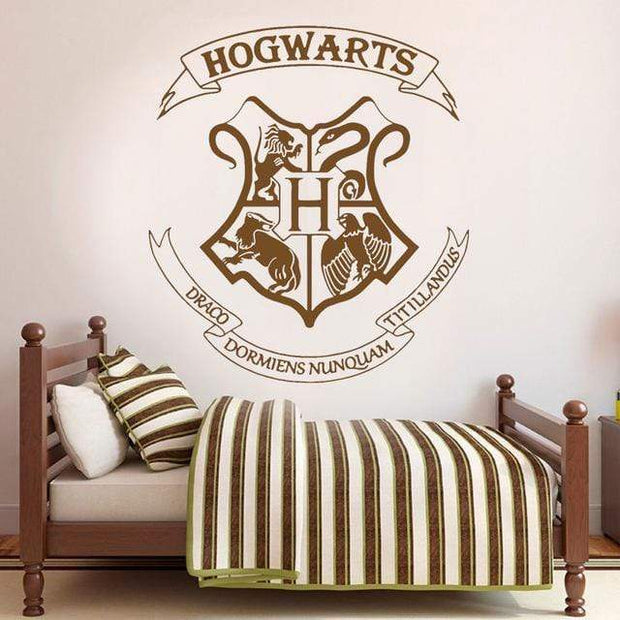 "Harry Potter Hogwarts Crest Wall Sticker Coffee / 16""x18"" Wall Sticker"