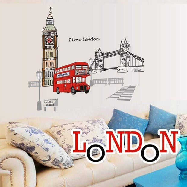 "I Love London - Wall Sticker 41""x35"" Wall Sticker"