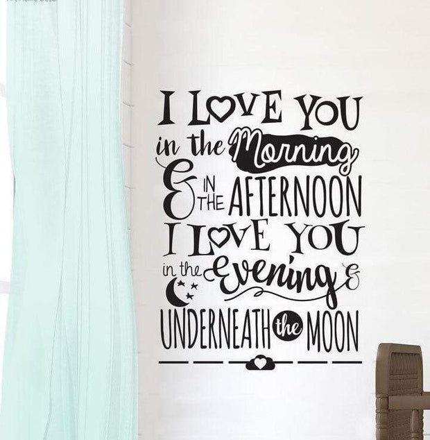 I Love You Underneath the Moon Wall Sticker Wall Sticker