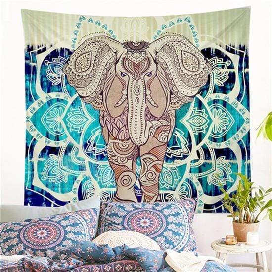 "Indian Style Elephant Tapestry Elephant Tapestry / 52""x60"" (130x150cm) Tapestry"