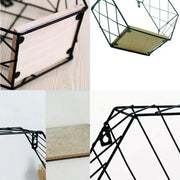 Iron Hexagonal Grid Floating Shelf For Wall Decor Accessories