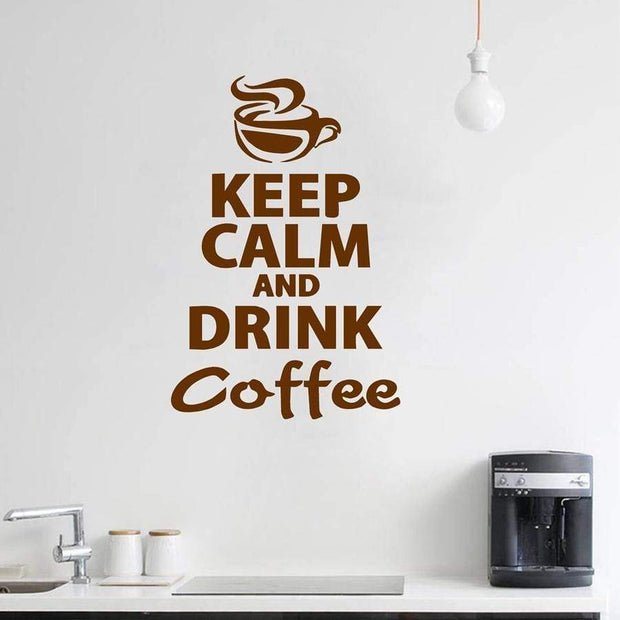 Keep Calm and Drink Coffee Wall Sticker Wall Sticker