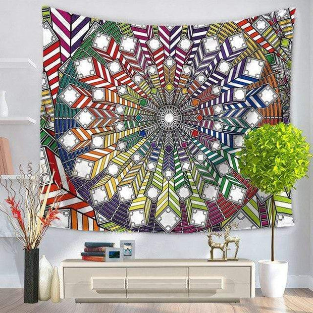 Large Mandala Indian Tapestry 2 / 150x130 Tapestry