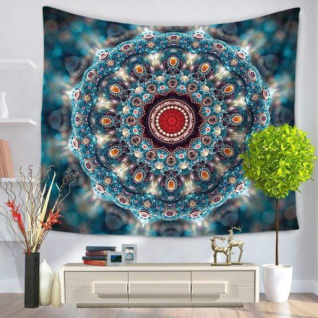 Large Mandala Indian Tapestry 4 / 150x130 Tapestry
