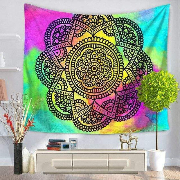 Large Mandala Indian Tapestry 5 / 150x130 Tapestry