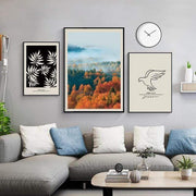 Leaves,Trees and Bird Canvas Prints Canvas