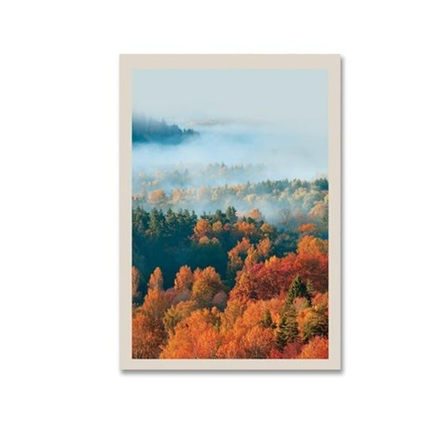 "Leaves,Trees and Bird Canvas Prints 8""x10"" / B Canvas"