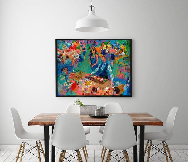 LeRoy Neiman Abstract Casino Poker Room Canvas Print Canvas