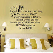 Life is a Precious Thing Quote Wall Sticker Wall Sticker