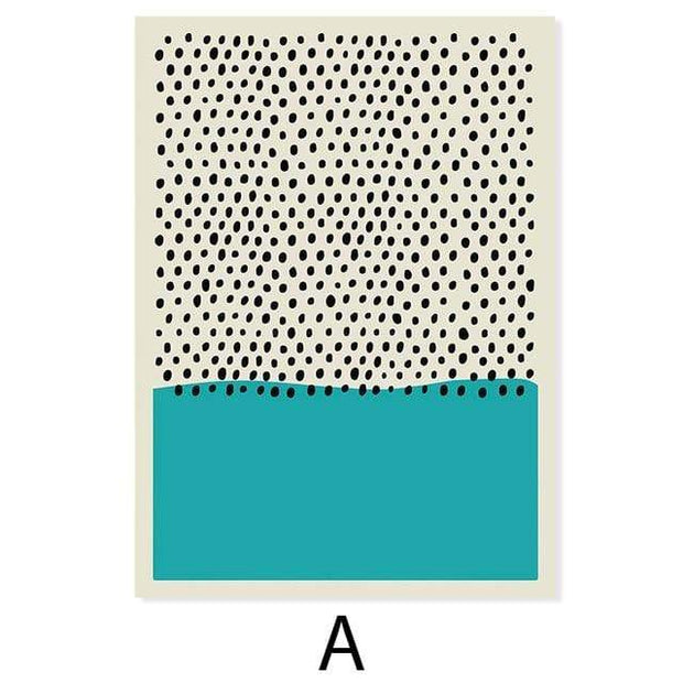"Lines and Dots with Colors Canvas Prints 8""x10"" / A Canvas"
