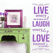 Live, Laugh And Love Inspirational Wall Sticker Wall Sticker