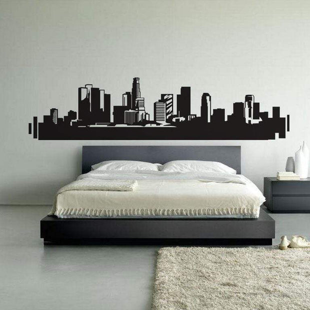 "Los Angeles Skyline Wall Sticker Black / 34""x8"" Wall Sticker"