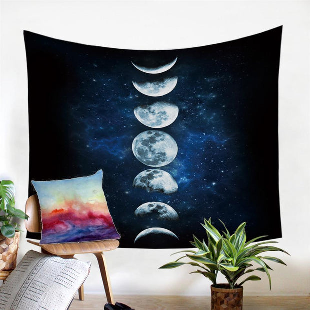 Lunar Eclipse Stages Tapestry Tapestry