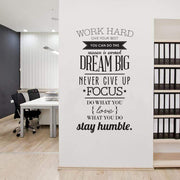 Motivational Quote Wall Sticker to Get You Inspired Wall Sticker