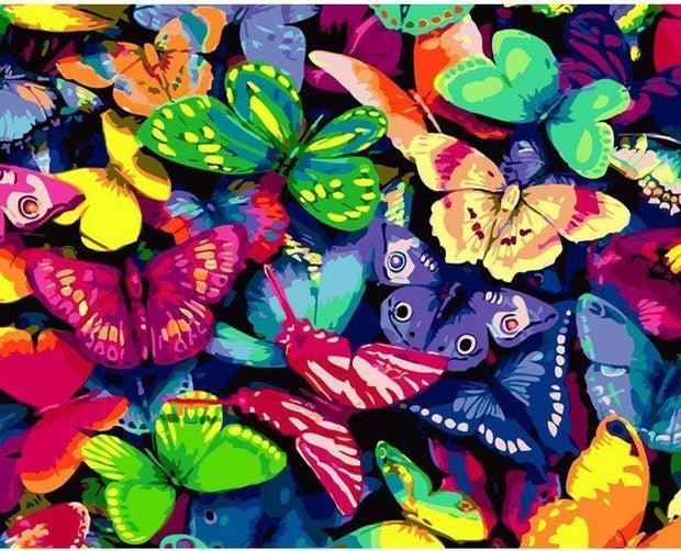 Multicolor Butterflies DIY Painting By Numbers DIY