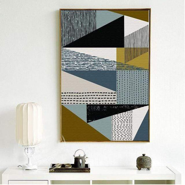 "Nordic Style Geometric Art Canvas Poster 4""x6"" / 2 canvas"