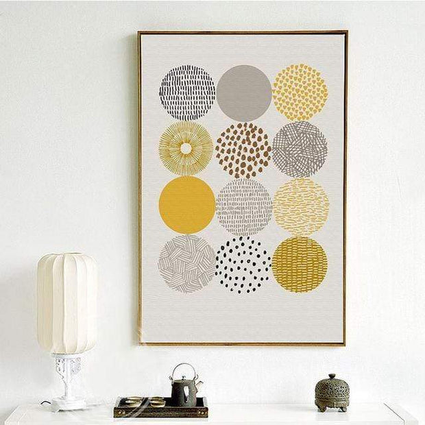"Nordic Style Geometric Art Canvas Poster 4""x6"" / 3 canvas"