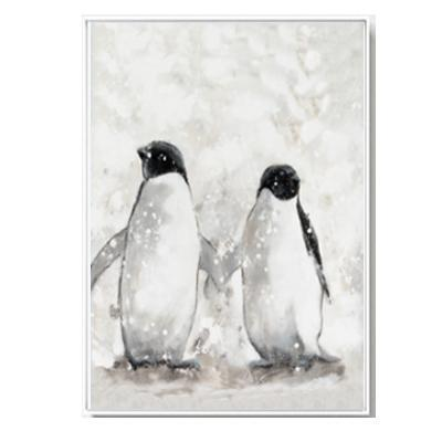 "Nordic Style Love Quote And Penguin Canvas Poster 4""X6"" / Penguins canvas"