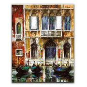 "Oil Painting Of Venice Canal 16""x20"" Oil Painting"