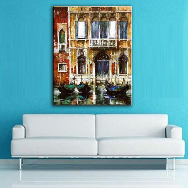 Oil Painting Of Venice Canal Oil Painting