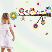 "Playful Owls Nursery Wall Stickers Owl Family / 29.5""x24"" Wall Sticker"