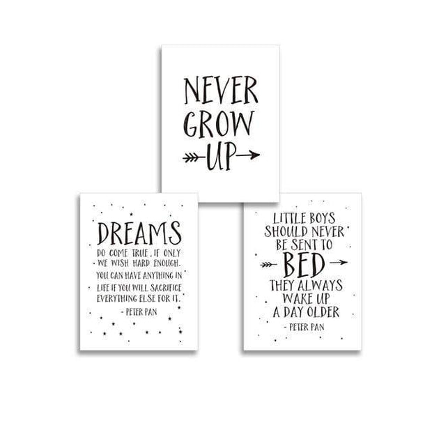 "Quotes for Kids Canvas Prints 8""x10"" / Set 3 pcs Canvas"