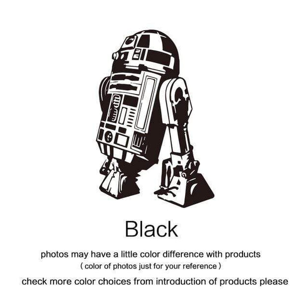 "R2 D2 Wall Sticker Black / 34""x23"" Wall Sticker"