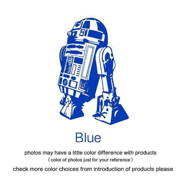"R2 D2 Wall Sticker Blue / 34""x23"" Wall Sticker"