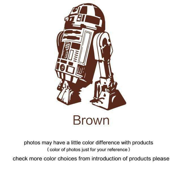 "R2 D2 Wall Sticker Brown / 34""x23"" Wall Sticker"