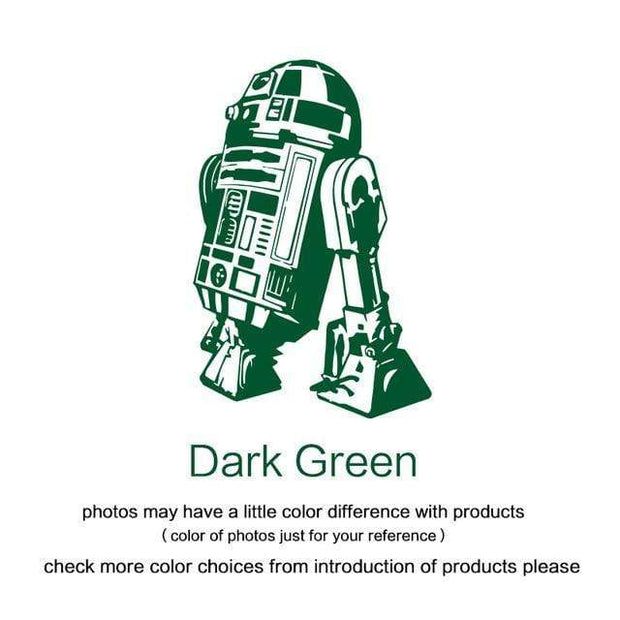 "R2 D2 Wall Sticker Dark Green / 34""x23"" Wall Sticker"