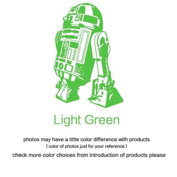 "R2 D2 Wall Sticker Light Green / 34""x23"" Wall Sticker"