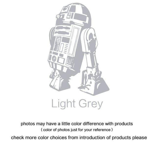 "R2 D2 Wall Sticker Light Grey / 34""x23"" Wall Sticker"