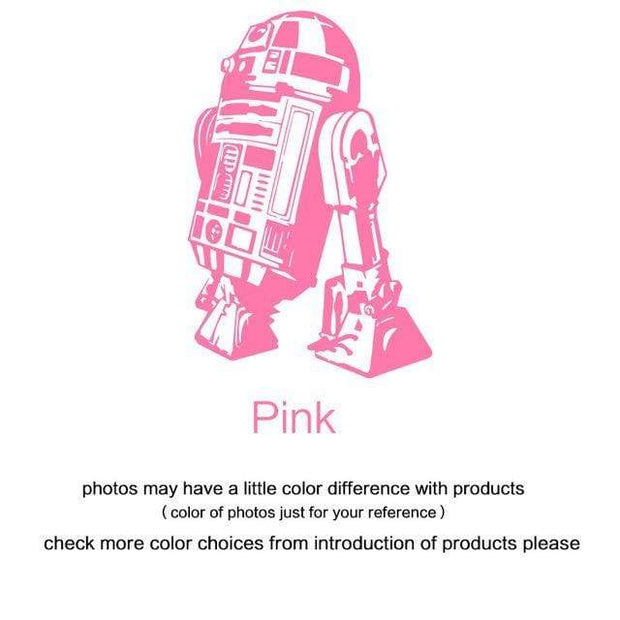 "R2 D2 Wall Sticker Pink / 34""x23"" Wall Sticker"